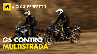 BMW R1250GS VS Ducati Multistrada V4S: maxienduro italiana o tedesca?[English sub.]