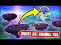 THE MINI RUNES ARE MOVING AND GOING TO COMBINE *NOW* in Fortnite