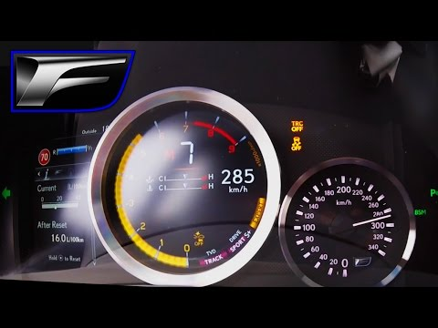 Lexus GS F ACCELERATION & TOP SPEED on AUTOBAHN - 5.0 V8 477 HP