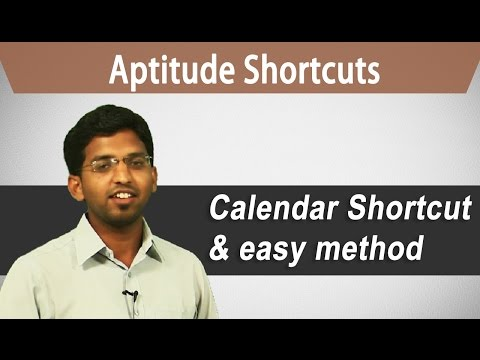 How to solve calendar problems easily :Best Aptitude Shortcuts (Bank PO, GRE, GMAT, CAT, IBPS)