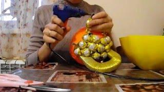 как сделать гирю из конфет