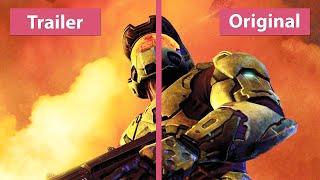 Halo 2 - Anniversary Trailer vs. Original on Xbox 360 Graphics Comparison