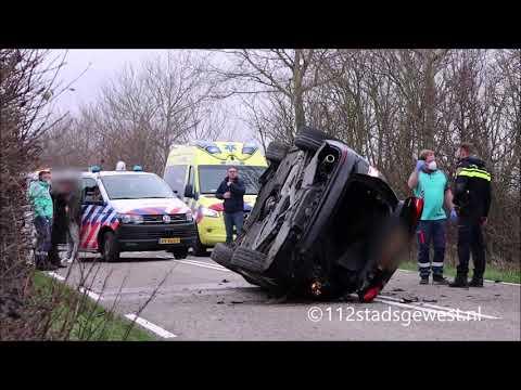 Audi Op Z'n Kant Bij Eenzijdig Ongeval Meliskerke