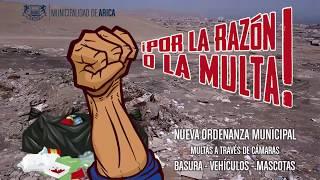 #PorLaRazonoLaMulta nueva Ordenanza #MuniArica