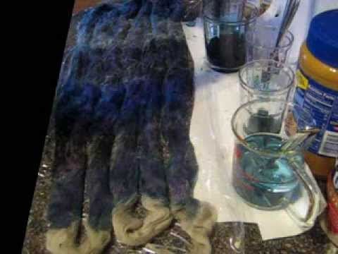 Some Dyeing Fun - Handpainting Wool Roving with Food Coloring, a Project Designed for my Baby