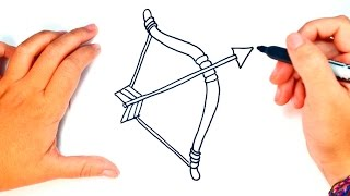 How to draw a Bow and Arrow | Bow and Arrow Easy Draw Tutorial