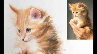 Cat Painting in Watercolor Demo (Real Time on Patreon)