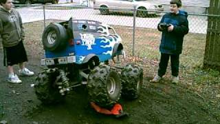 Huge RC van crushes RC car