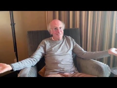 Larry David asks idiots to stay home and watch TV in crabby ...