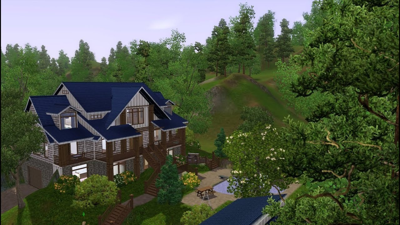 sims 3 house fly through the blue craftsman youtube sims 3 house fly through the blue craftsman