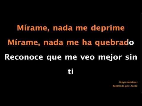 Mayré Martínez - Mirame KARAOKE