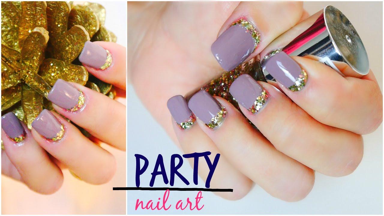 Party Nail Art. Diseño de Uñas Elegante para Fiestas/Ocasiones ...