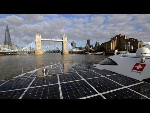 World's largest solar-powered boat docks in London