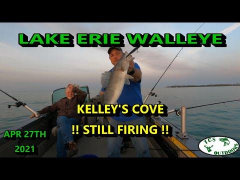 TROLLING FOR WESTERN BASIN WALLEYE KELLEYS ISLAND OHIO