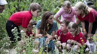 Duchess of Cambridge delights children in her garden