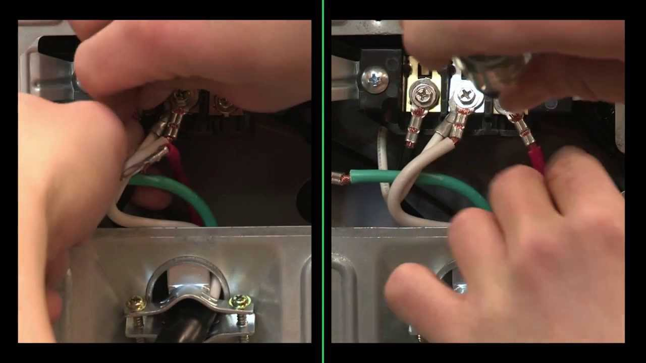 Electric Dryers Connecting A 4 Wire Power Supply Cord Youtube Bosch Dryer Wiring Diagram