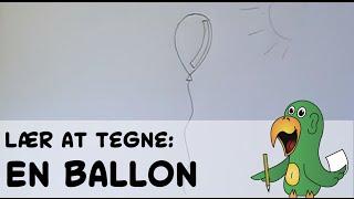 Lær at tegne EN BALLON | HVORDANTEGNERJEG.DK