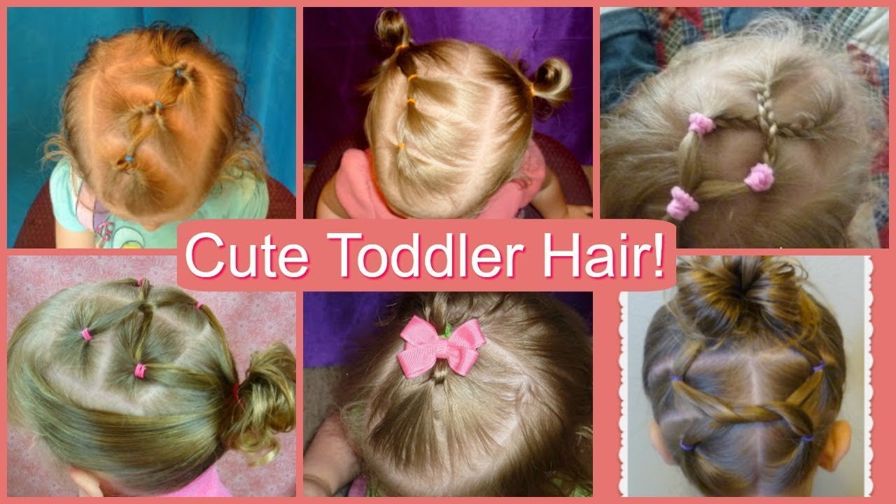 6 easy toddler hairstyles! cute and simple hair ideas for babies compilation