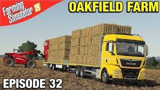 TELEHANDLER LOADING STRAW Farming Simulator 19 Timelapse - Oakfield Farm FS19 Episode 32