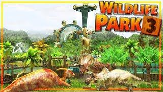 WILDLIFE PARK 3 : 1 - Ouverture du parc avec des dinosaures ! (Styracosaurus)