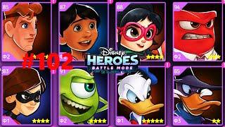 ГЕРОИ ДИСНЕЯ БОЕВОЙ РЕЖИМ  #102 видео игра мультик Disney Heroes Battle Mode СОСТАВЫ ОТ ПОДПИСЧИКОВ