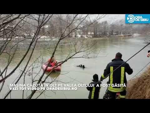 Masina cazuta in Olt la Boița