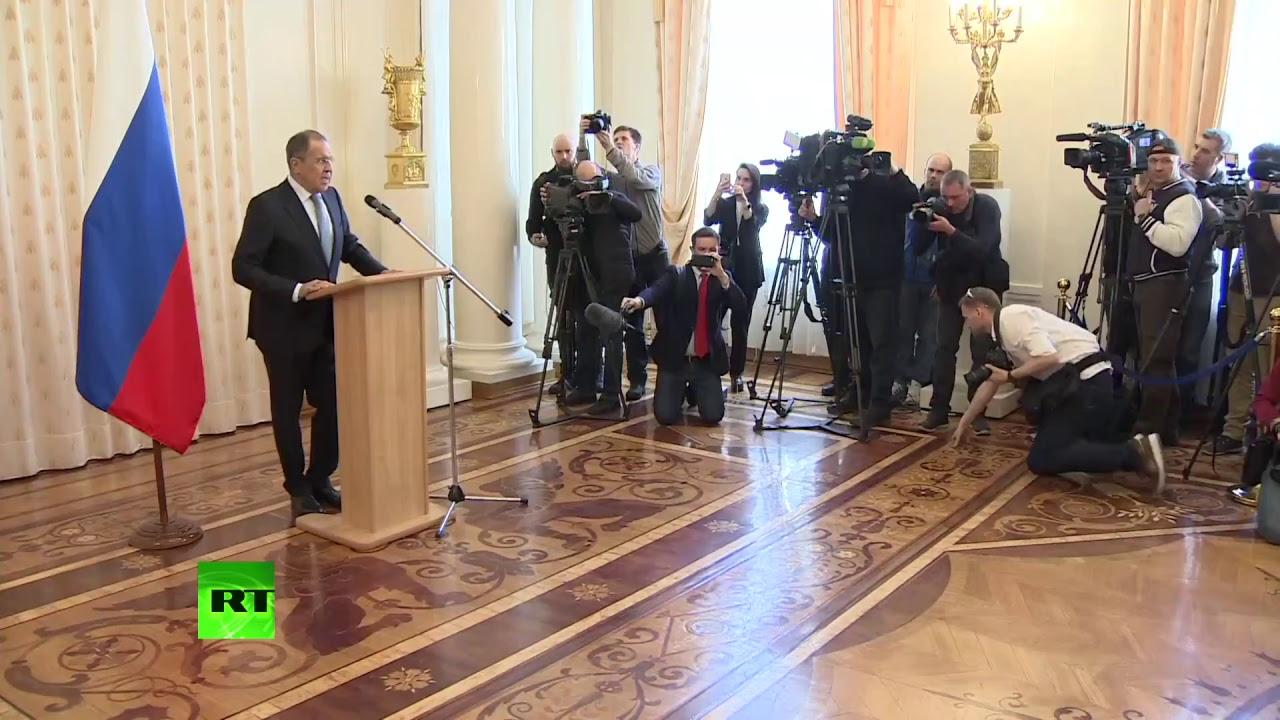 Встреча Лаврова с высланными российскими дипломатами