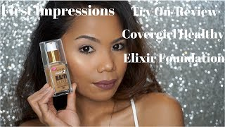 Video New CoverGirl Vitalist Healthy Elixir First Impressions/Try On/Review/Tan Skin download MP3, 3GP, MP4, WEBM, AVI, FLV Januari 2018