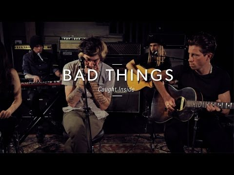 """Bad Things """"Caught Inside"""" At Guitar Center"""