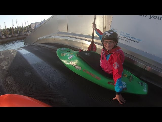 Cardiff whitewater course with the mini senders!