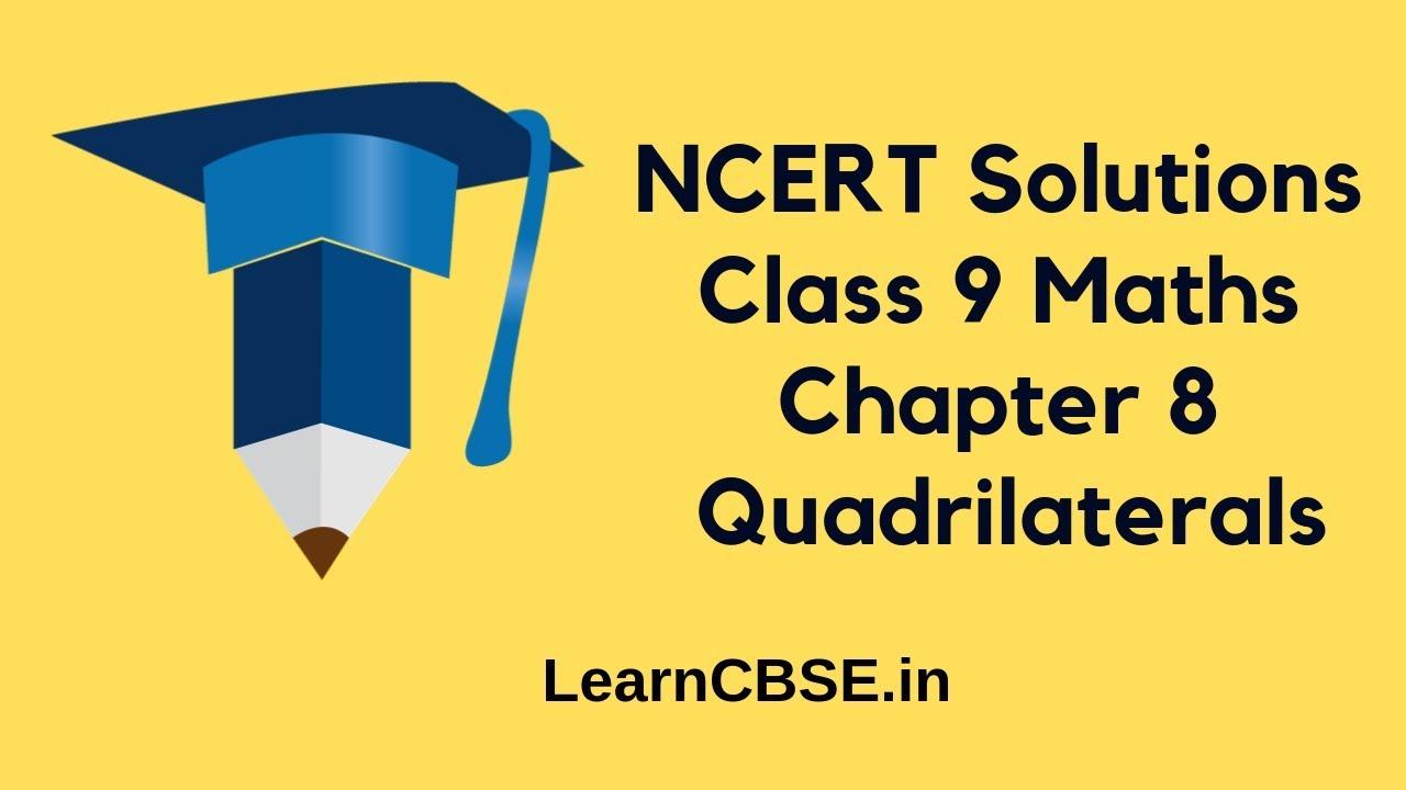 ncert solution of class 9 maths chapter 8
