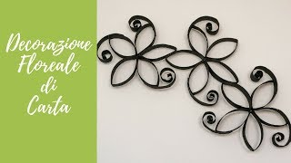 Tutorial: Decorazione Floreale di Carta (ENG SUBS - DIY toilet paper rolls wall decor)