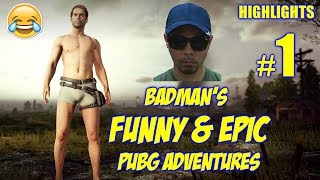 PUBG FUNNIEST PINOY PLAYER | HIS FIRST GAME | BADMAN PUBG ADVENTURES #1