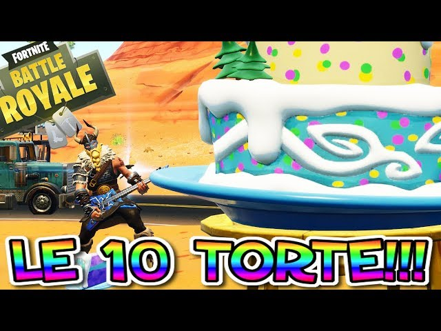 TUTTE LE TORTE FORTNITE!!! SFIDE FORTNITE COMPLEANNO!! ALL CAKES LOCATIONS FORTNITE!!!