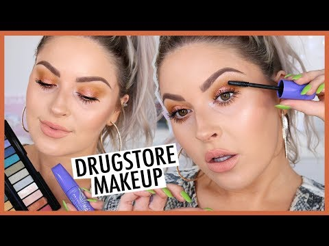 Simple Glowing DRUGSTORE Makeup & HUGE Lashes! 💕💣 ft Rimmel London