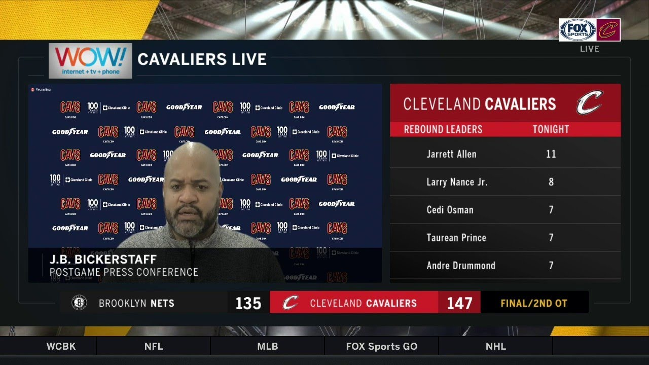 Collin Sexton 'brought us home tonight' - J.B. Bickerstaff postgame after Cavs' 2OT win over Nets - FOX Sports Ohio