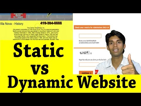 Static vs Dynamic Website Explained in Hindi