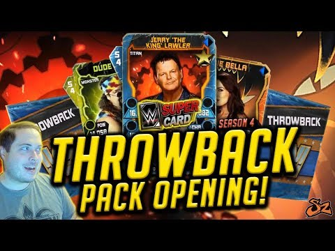 I DID NOT EXPECT THIS! THROWBACK PACK OPENING! | WWE SuperCard S4