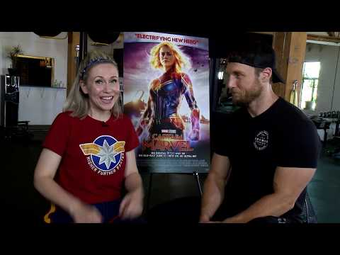 Captain Marvel Workout With Jason Walsh And Ashley Eckstein From Her Universe | Hot Topic