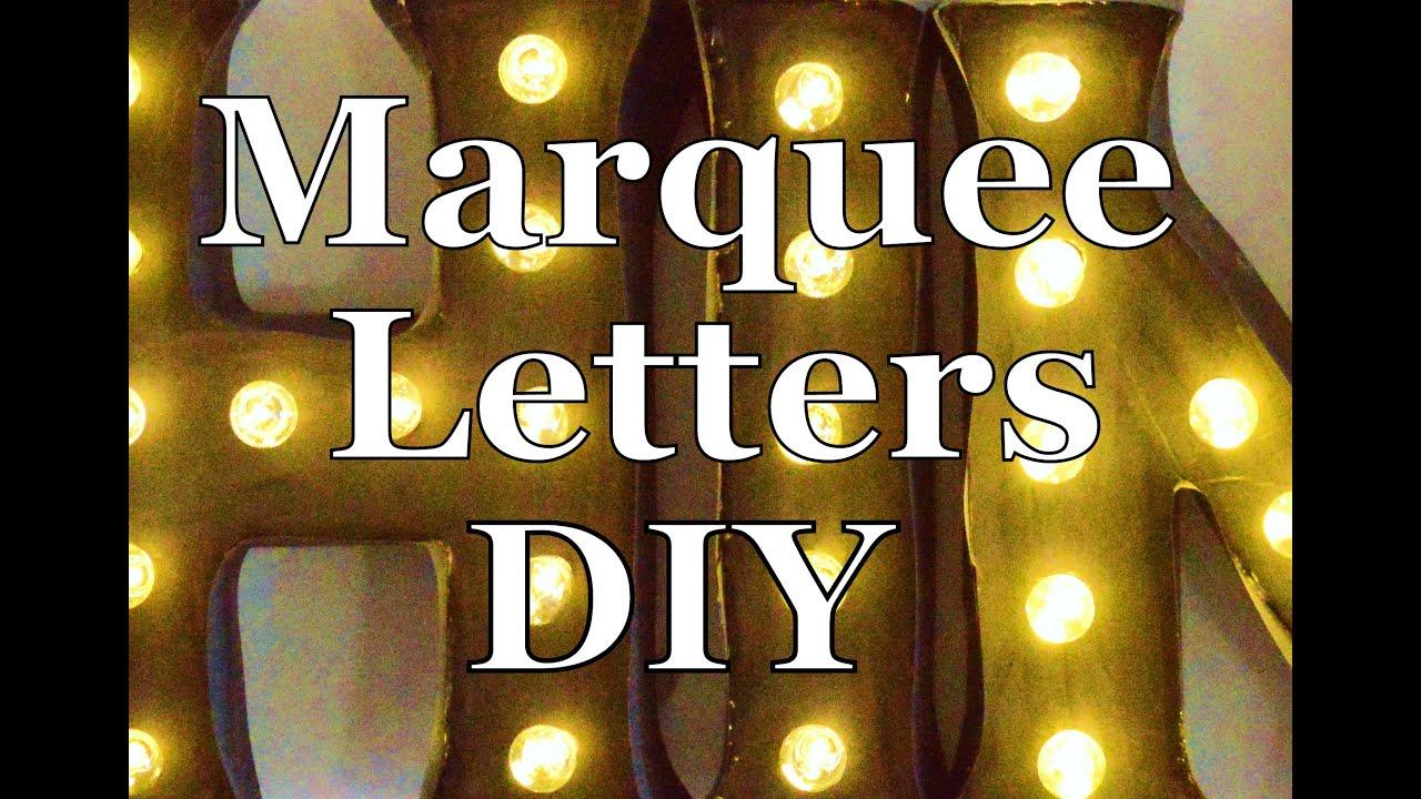 Marquee Letters DIY Terri Cumming Interior Design YouTube