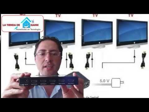 Como proyectar video en varias pantallas o monitores para bares splitter hdmi