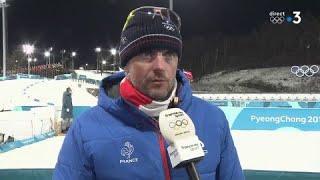 JO 2018 : Biathlon / Mass start Femmes. Julien Robert :