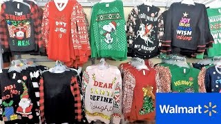 CHRISTMAS CLOTHING AT WALMART - CHRISTMAS SWEATERS UGLY SWEATERS T SHIRTS CHRISTMAS 2018 SHOPPING