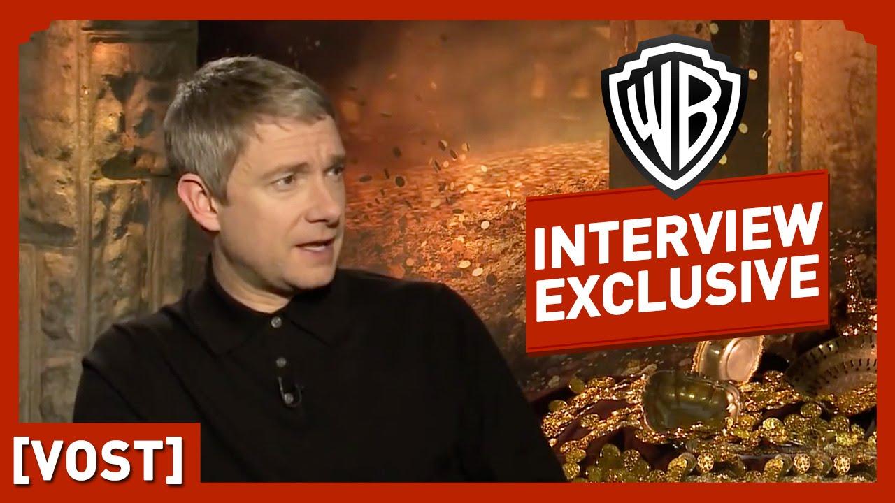 Le Hobbit - Interview Martin Freeman (VOST) - Peter Jackson