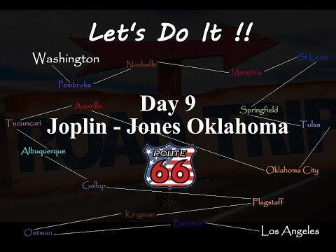 American Road Trip, Route 66, Day 9, Joplin to Jones, Oklahoma