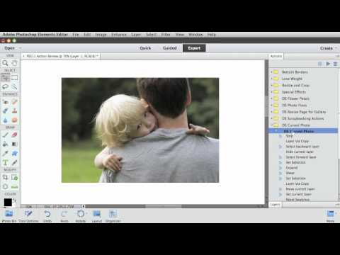 Photoshop Elements 11 Actions Panel Review