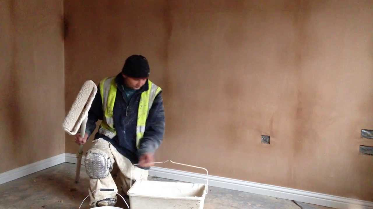 How to basecoat new plaster