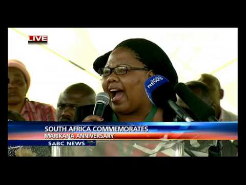 Marikana commemorations : pt 1