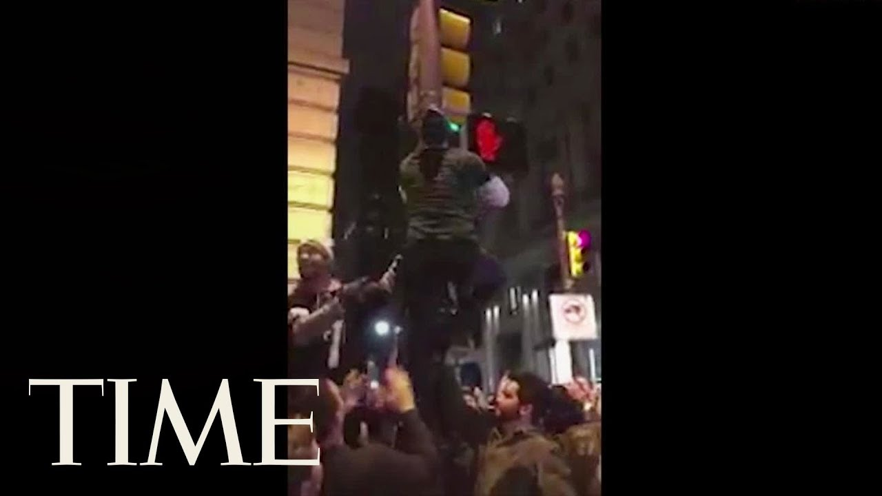 Eagles And Patriots Fans Had A Really Wild Time Celebrating Going To The Super Bowl | TIME