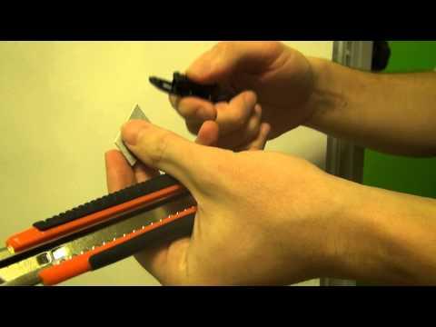 Как поменять лезвие в канцелярском ноже фото